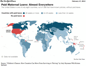 Map of Maternity leave
